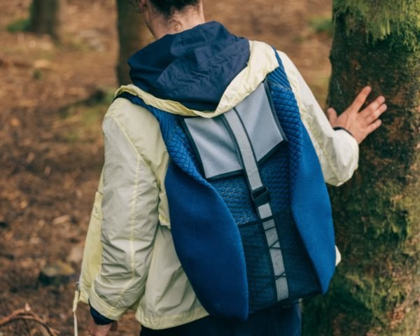 Pauline van Dongen, Radius backpack, solar backpack, backpack design, energy harvesting textile, solar-powered backpack, sun-powered charging technology, solar clothing, Santoni research lab, energy generating clothing, digital fashion creations, solar textiles, solar technology, solar fashions, wearable technology,