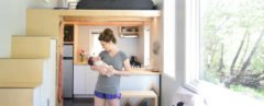 SHED tiny house, Robert Garlow, Samantha Garlow, Aubrin Garlow, baby, couple, tiny house, tiny home