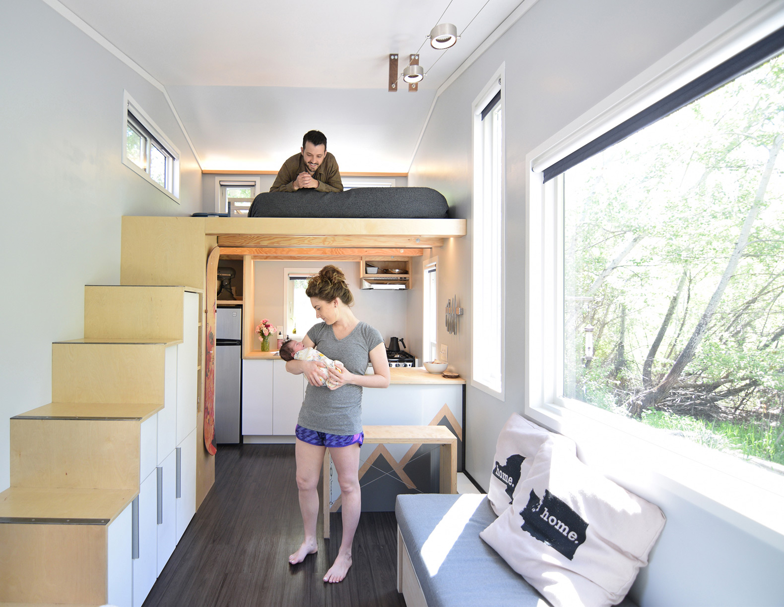 How One Couple Adapted A 204 Square Foot Tiny House For Their New Baby