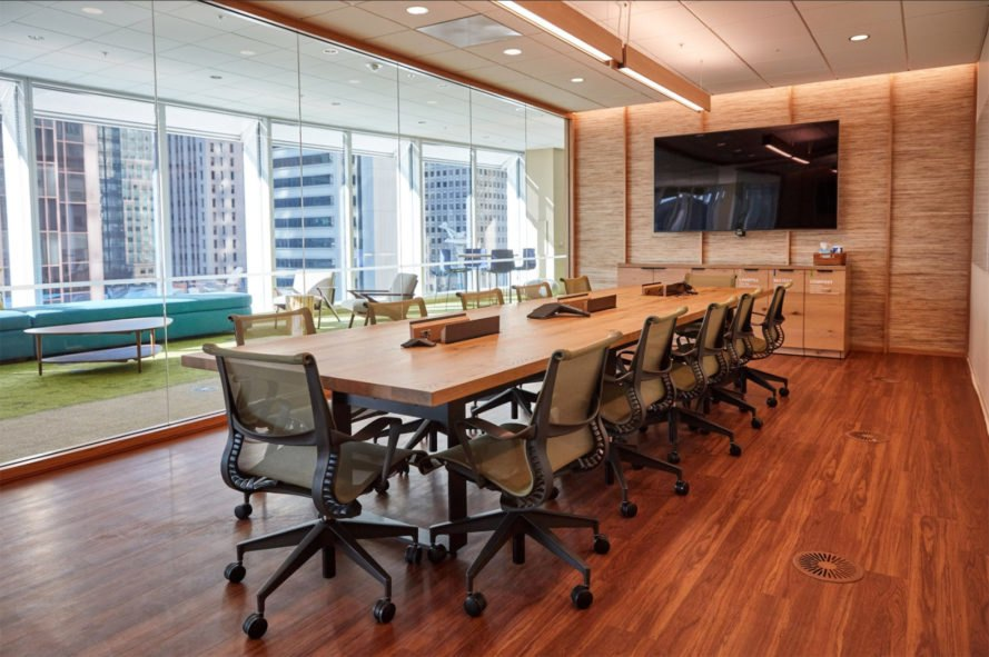 Salesforce Tower, conference room, conference, office, office interior, workspace