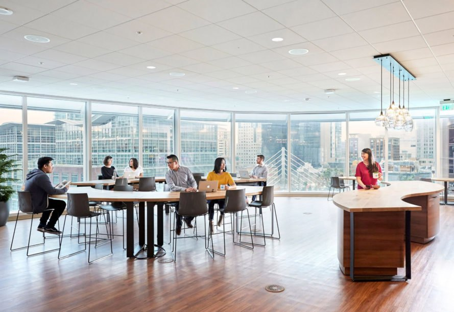 Salesforce Tower, office, office interior, employee, employees, working