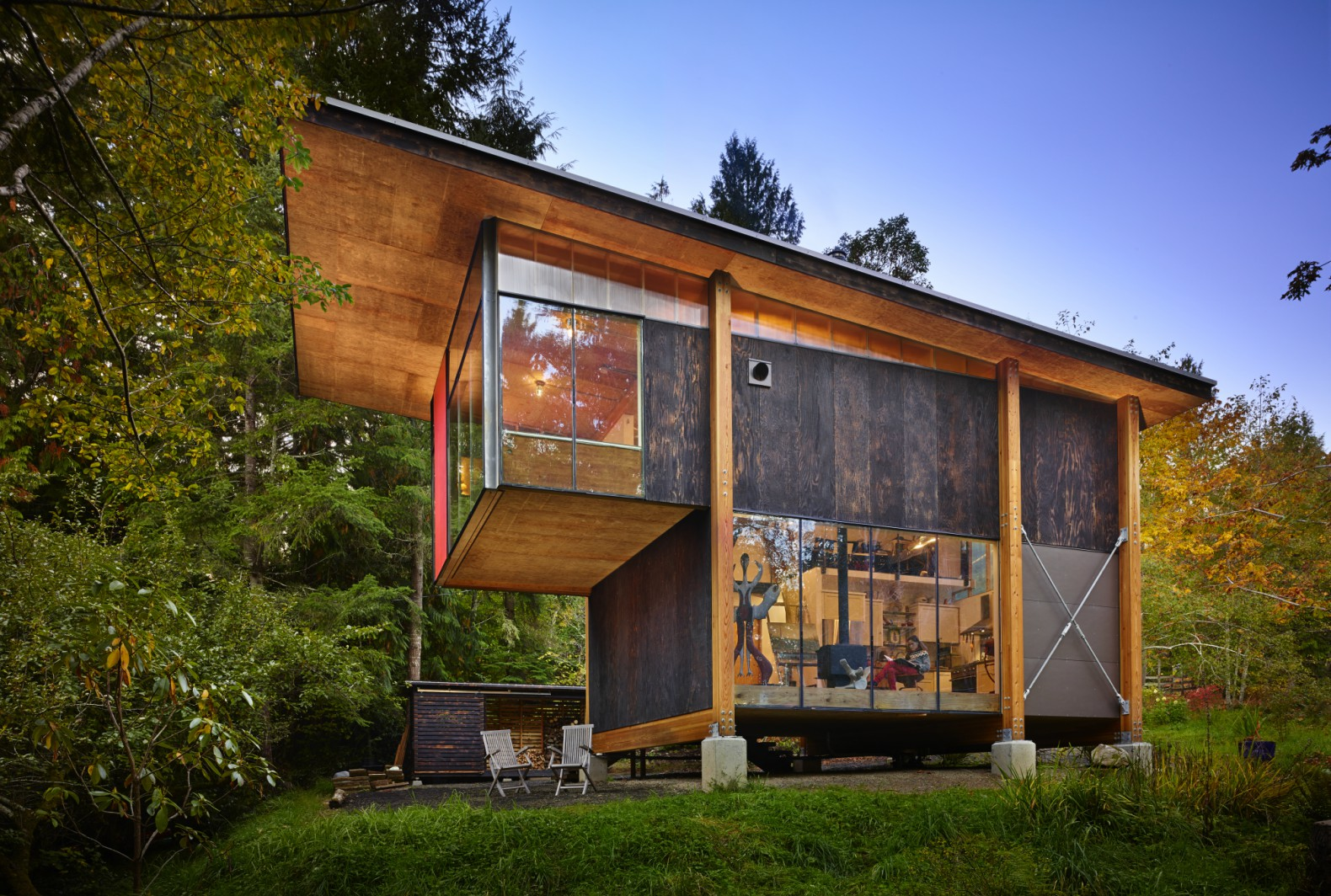 Superieur This Puget Sound Eco Cabin Is Made Almost Entirely From Reclaimed Materials