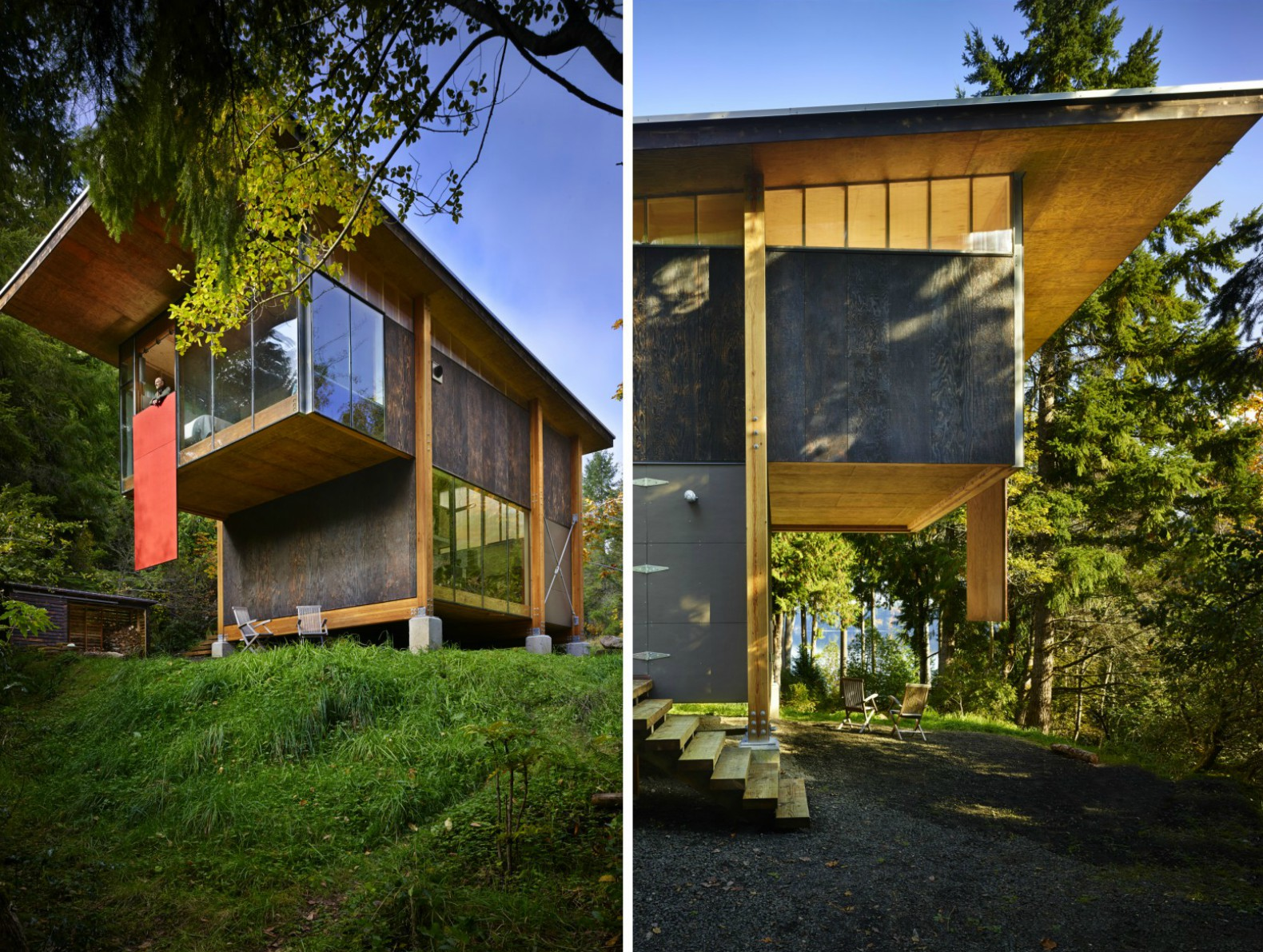 This Puget Sound Eco Cabin Is Made Almost Entirely From