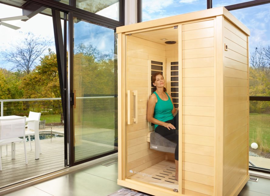 Sunlighten, infrared saunas, saunas, sustainably harvested wood, green design, healthy lifestyle, patented design, energy efficient design