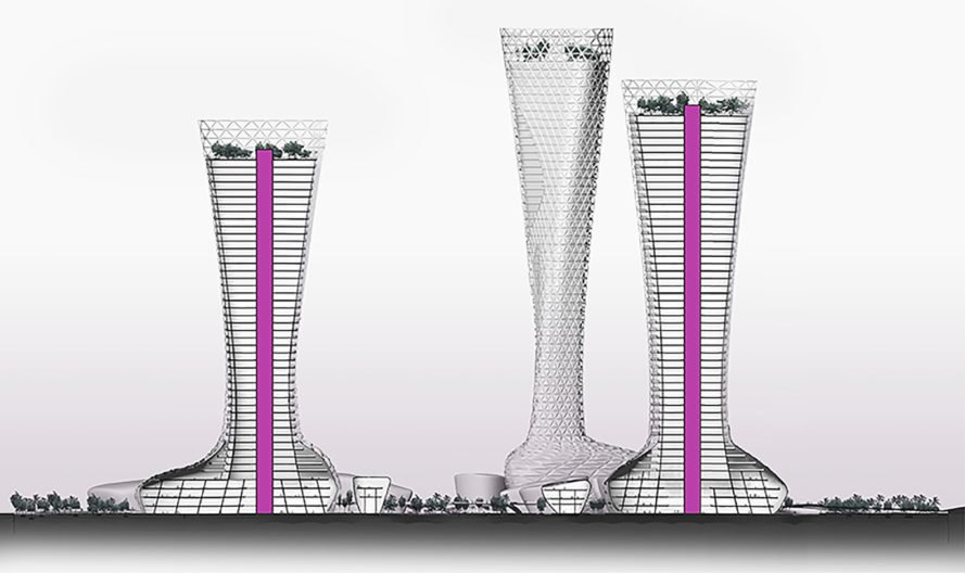 Symbiotic Towers, Symbiotic Towers by AmorphouStudio, AmorphouStudio, towers, tower, architecture, design