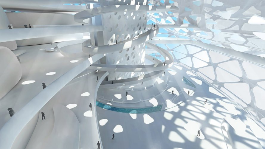 Symbiotic Towers, Symbiotic Towers by AmorphouStudio, AmorphouStudio, architecture, interior, light, patterns
