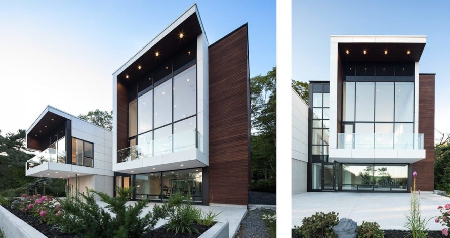 Fibre C cladding, Syncline House by Omar Gandhi Architect, Syncline House in Halifax, Halifax contemporary architecture, modern ecofriendly housing in Canada, modern eco-friendly house in Nova Scotia, luxury solar home Nova Scotia,