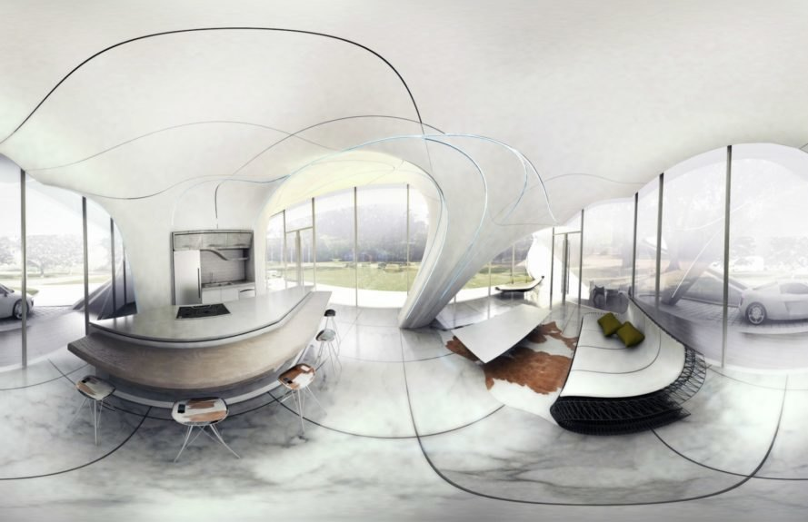 WATG Urban, 3D-printed home, 3d printed architecture, 3d freeform designs, 3d printed houses, 3d printed buildings, 3d printing, curve appeal, freeform home design challenge, 3d printing, futuristic architecture, net zero homes, worlds first freefrom 3d home, 3d printing technology, green design, sustainable design,