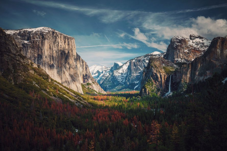 Yosemite, Tunnel View, Yosemite National Park, national park, mountains, nature, landscape