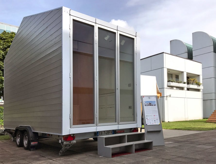 Leonardo Di Chiara, aVOID tiny home, Swiss Army house, tiny home living, tiny home design, swiss army tiny home, space efficiency tiny home, minimalist living, roaming tiny home, tiny home on wheels, italian tiny home, italian architecture, timber tiny home, micro housing, micro living,