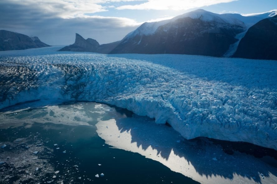 glacier, melting glacier, glacier climate change, glacier sea level rise