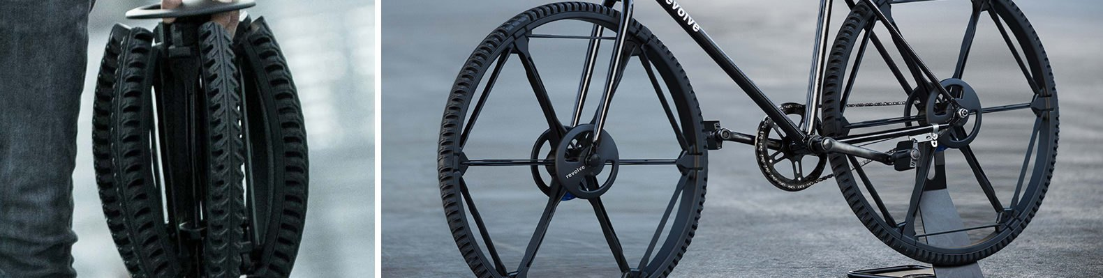 Revolve wheel, foldable wheel, airless wheel, urban design, wheel mobility, new wheel design, puncture proof wheel, bicycle tires, foldable tires, bicycle parts, green transportation, wheelchair wheels, portable bicycle wheels, airless wheels,