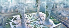 AmorphouStudio, Symbiotic Towers, Symbiotic Towers by AmorphouStudio, Dubai towers, Dubai towers symbiosis, Dubai towers nature and architecture, Dubai towers symbiosis nature and architecture, oasis-inspired towers in Dubai, towers designed for Dubai heat, towers designed for Dubai climate