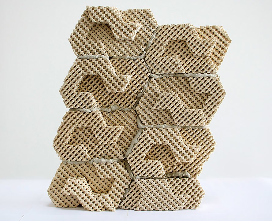 Emerging Objects, Cool Brick, evaporative cooling, ceramic bricks, cooling, 3D printed