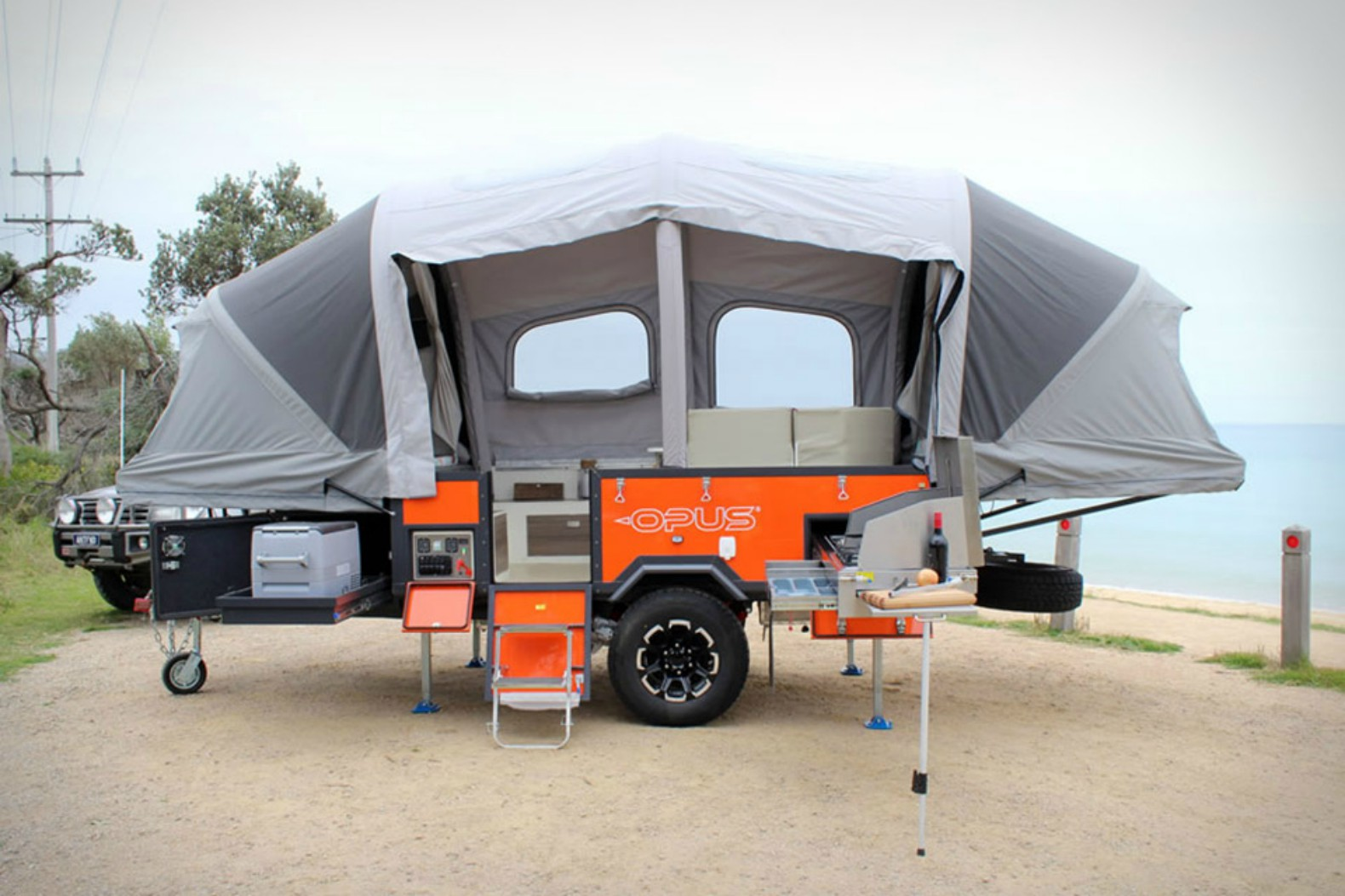 The Air Opus pop-up camper inflates in 90 seconds flat