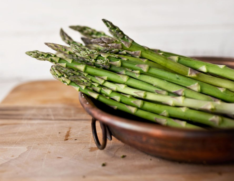 Asparagus, vegetable, food, green, bowl, raw