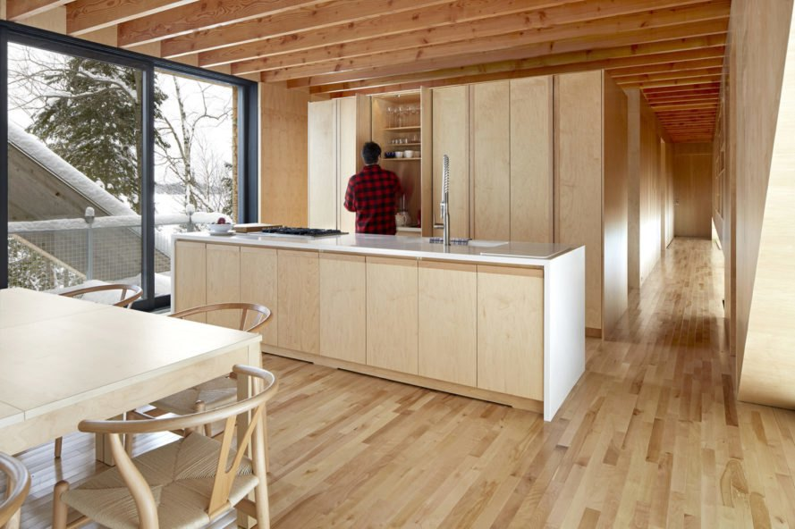 Bridge House, timber, timber house, LLAMA urban design, glulam, cedar siding, locally sourced materials, locally sourced wood, roof deck, green architecture, Toronto, Canada