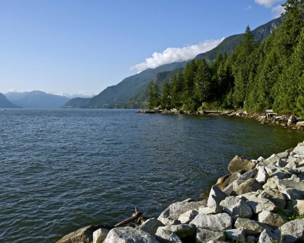 British Columbia, Canada, Vancouver, lake, nature, trees, mountains