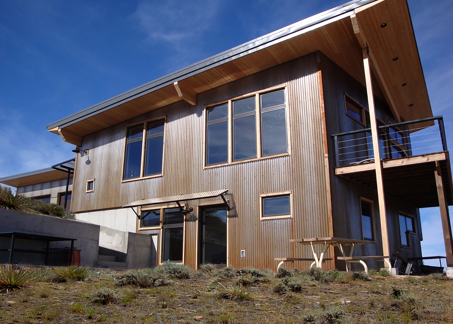 Crimson Bluffs House, Passive Solar, Solar Home, Radiant Hydronic Floor  Heating, Recycled