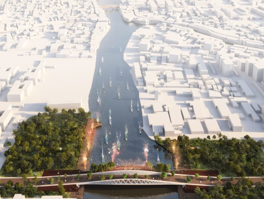 Dawn Bridge by MVRDV, Dawn Bridge in China, Dawn Bridge competition, Dawn Bridge Zhujiajiao, Zhujiajiao bridge project, bridge as public space, multi use bridge, bridge architecture in China