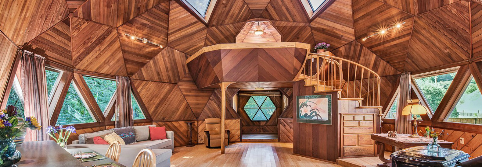 This incredible geodesic dome home could be yours for $475k