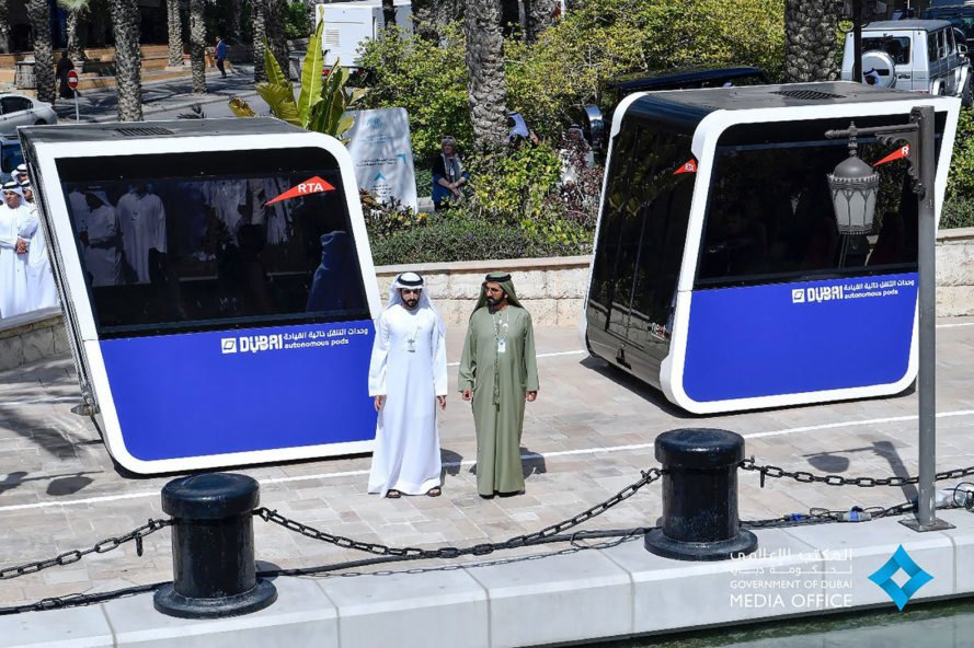 Dubai, Next Future Transportation, Roads and Transport Authority, pods, mobility pods, autonomous, self-driving