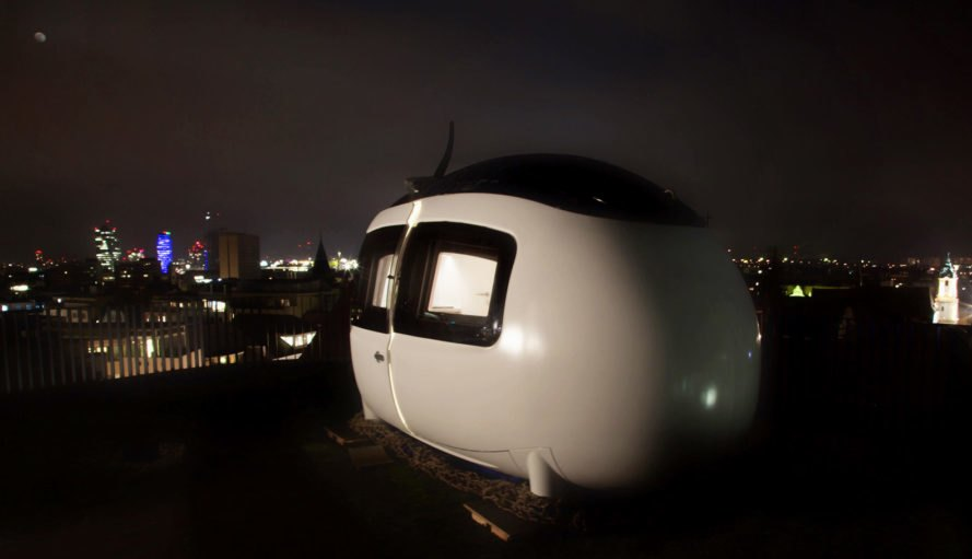 off-grid ecocapsule, ecocapsule microhome, ecocapsule, slovakian off-grid home, spheroid tiny home, spheroid microhome, egg-shaped microhome, solar and wind powered home, self-sufficient homes, smart homes, green homes