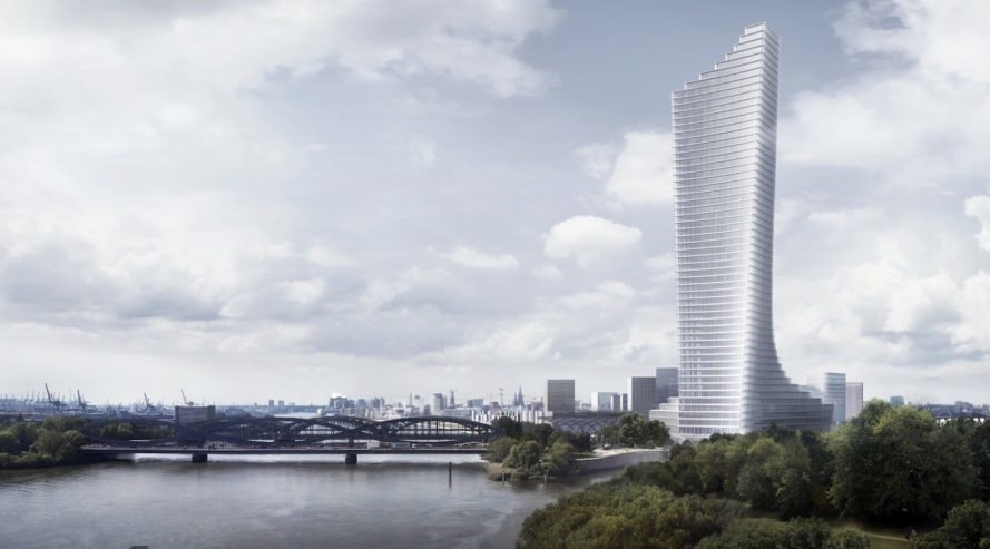 david chipperfield architects reveal designs for hamburg s tallest tower inhabitat green. Black Bedroom Furniture Sets. Home Design Ideas
