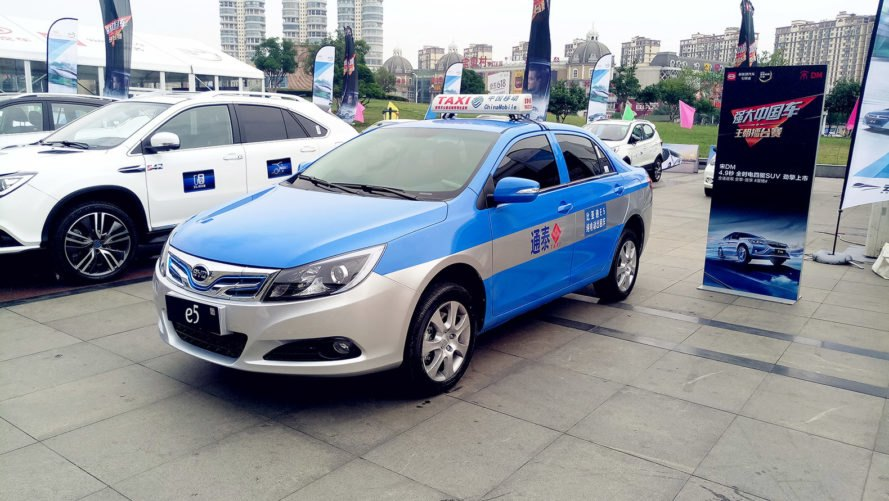 BYD, BYD e5, Bengbu, electric car, electric taxi, electric taxicab, taxicab