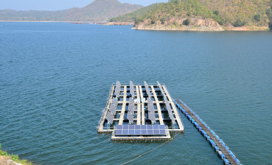 Floating solar, lake, Khwae Yai River, Srinagarindra Dam, Thailand, water, solar power, solar energy