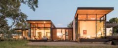 Forty One Oaks by Field Architecture, Forty One Oaks in Portola Valley, oak-inspired architecture, wildlife corridor architecture preservation, flat roof steel overhang, concrete walls in contemporary residence, full height glazing California home, natural material palette California