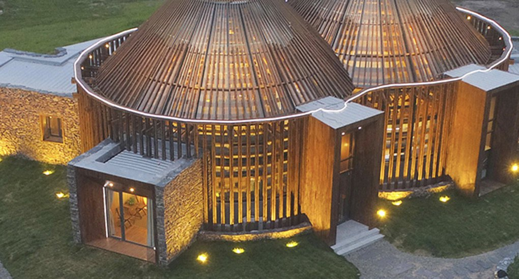 Yurt Inspired Visitors Center In China Blends Into Its