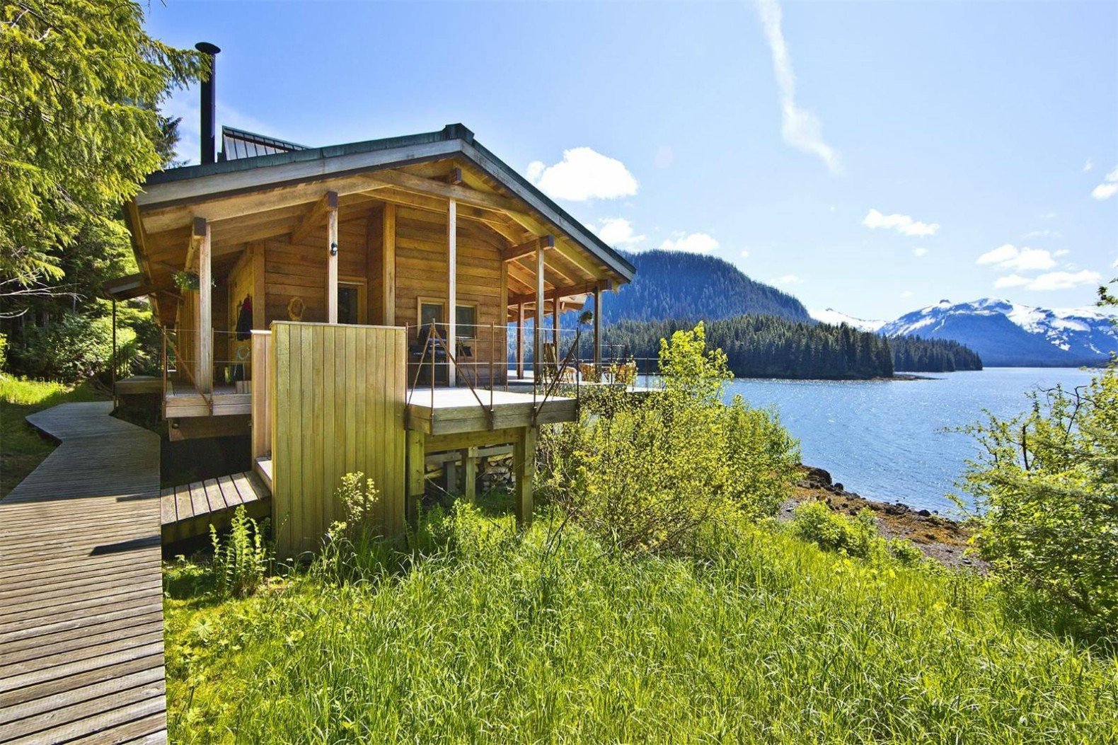 This Off Grid Cabin In The Pristine Alaskan Wilderness Can Only Be Reached  By Sea Or Air