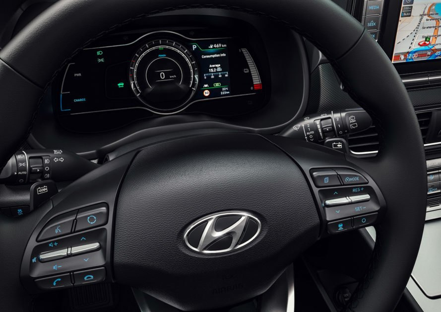Hyundai, Kona Electric, Hyundai Kona Electric, electric car, electric SUV, car, SUV, steering wheel