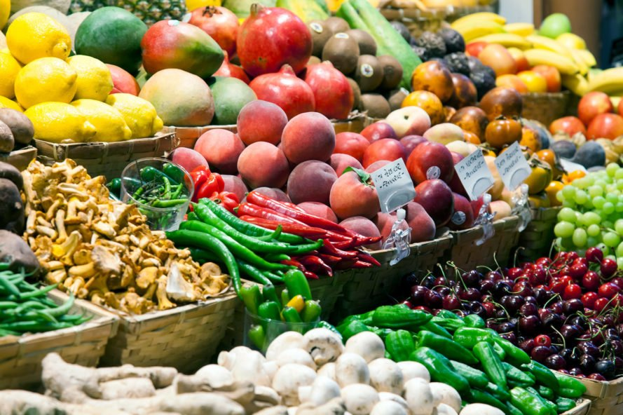 Produce, fruit, vegetables, food, market, eco-friendly