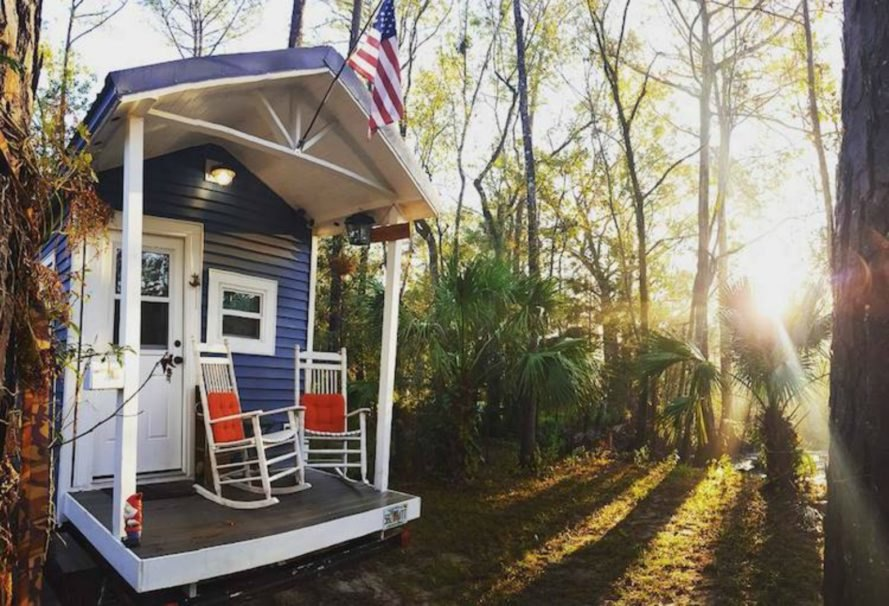 Rolling Quarters, Jacksonville tiny home, college student tiny home, tiny home design, tiny home living, compact spaces, tiny home construction, college student living, tiny home college life, minimal living, rentable tiny house, airbnb tiny home, self built tiny home, how to build a tiny house,