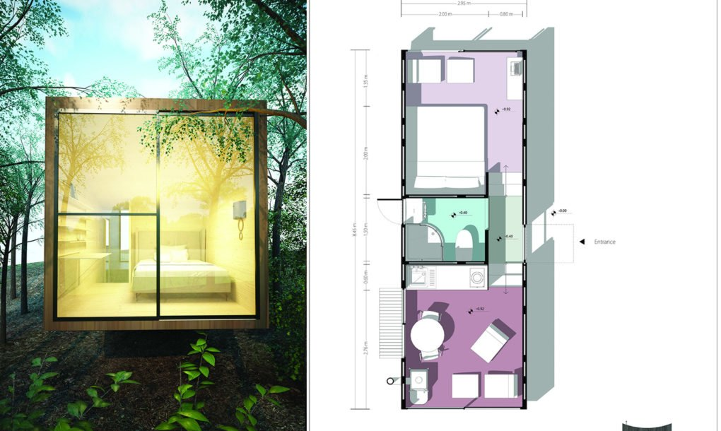 Winners of tiny house competition pack comfort and for Small house design competition