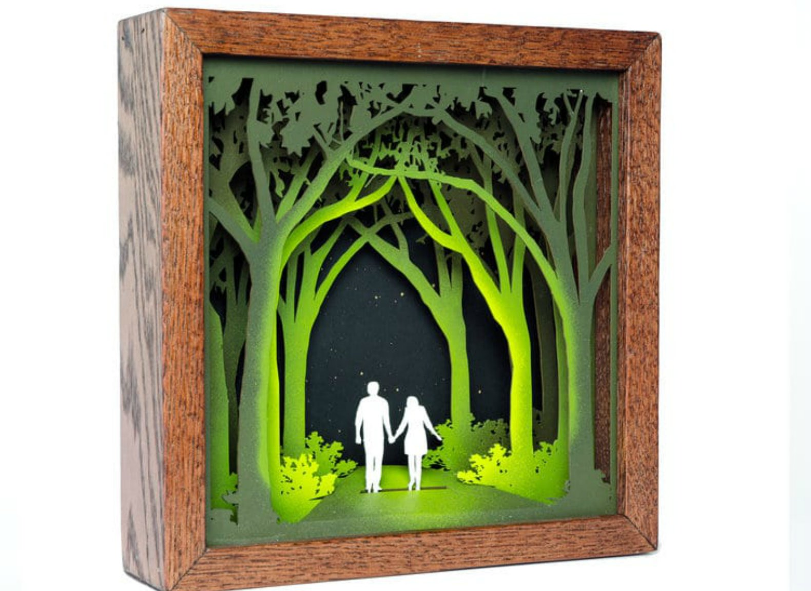 Artist Creates Intricate Shadowboxes Out Of Laser Cut Wood