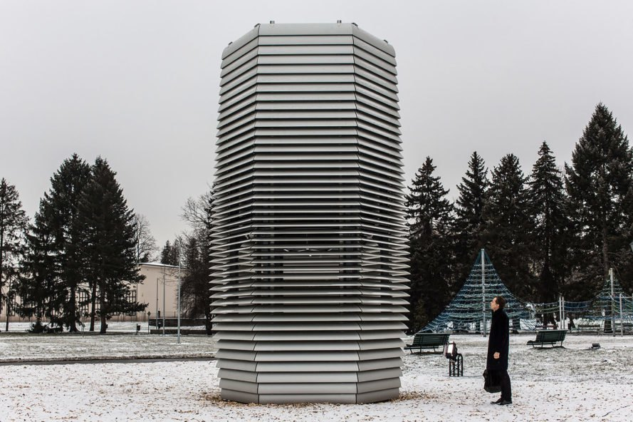 Smog Free Tower, Smog Free Project, Studio Roosegaarde, Poland, Krakow, Park Jordana, tower