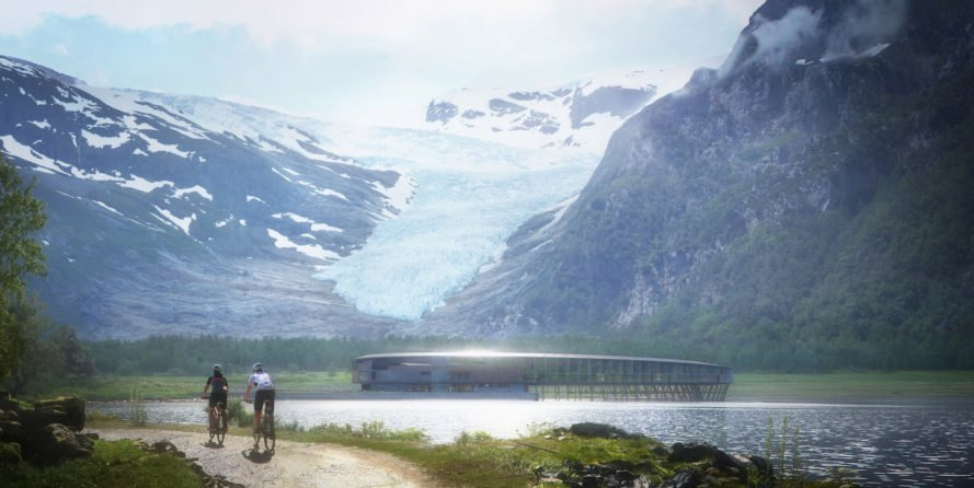 Svart by Snøhetta, Svart hotel, Svart Arctic Circle, plus energy Arctic Circle hotel, energy positive eco hotel, Svartisen hotel, Svartisen ecofriendly architecture, Svart in Svartisen National Park, Svart Arctic Adventures of Norway,