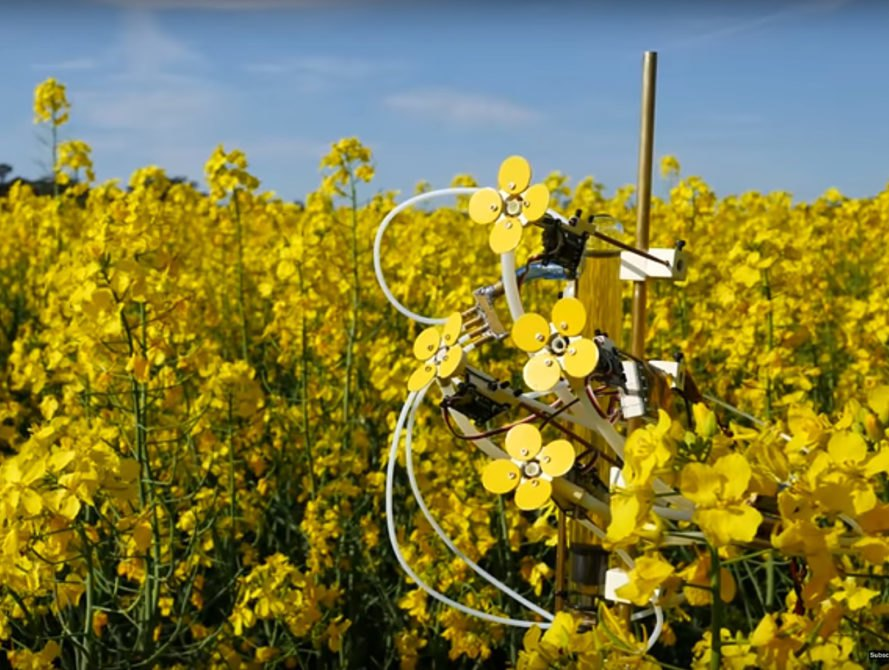Synthetic Pollenizer, pollination, Michael Candy, robotics, bee population, crops, green design, innovative design