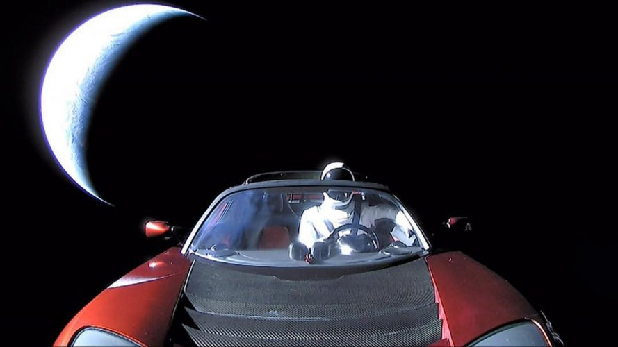 Tesla, Tesla Roadster, Roadster, Starman, outer space, space