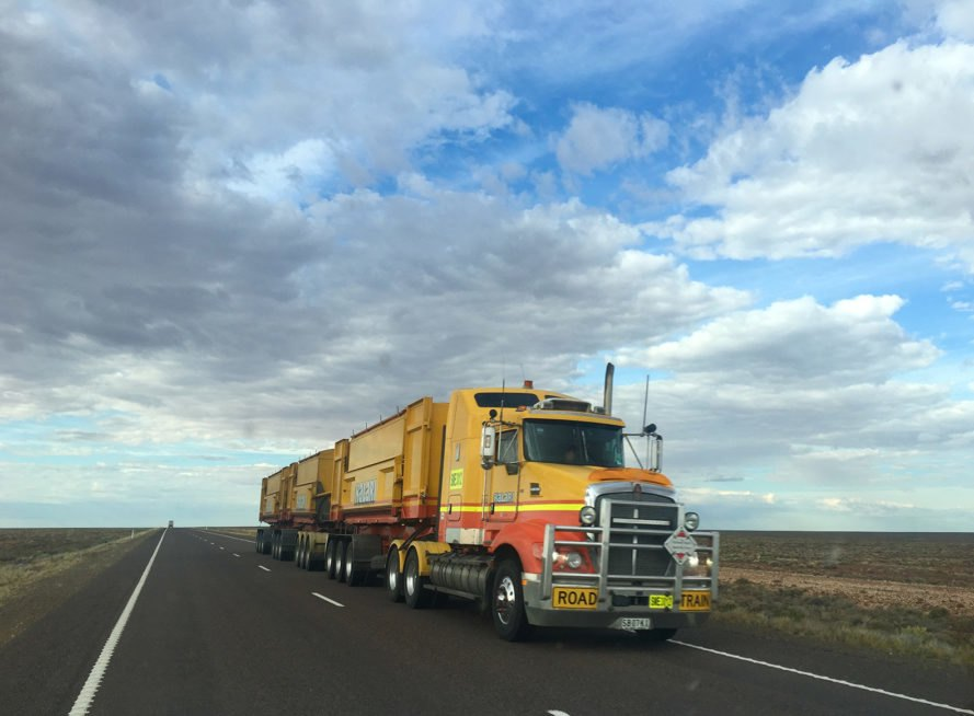 Truck, highway, road, vehicle, trailer truck, transportation