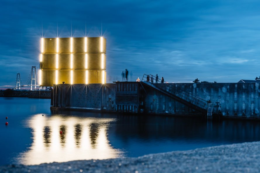 Water Sports Center Halsskov, Water Sports Center Halsskov by Sweco Architects, Sweco Architects, Denmark, water sports center, port, shipping containers, diving tower