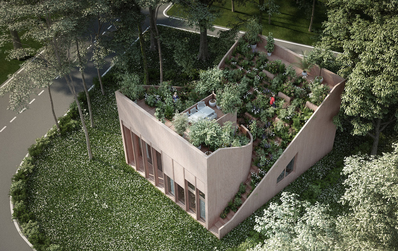 Gorgeous Roof Garden Feeds Owners In The Off Grid Yin Yang House
