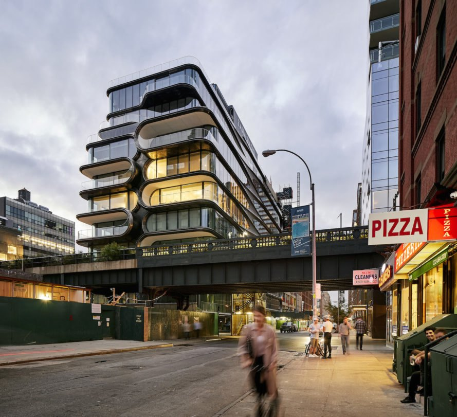 520 West 28th by Zaha Hadid Architects, 520 West 28th, Zaha Hadid New York City, 520 West 28th pictures, 520 West 28th photos by Hufton+Crow, 520 West 28th High Line, 520 West 28th residences