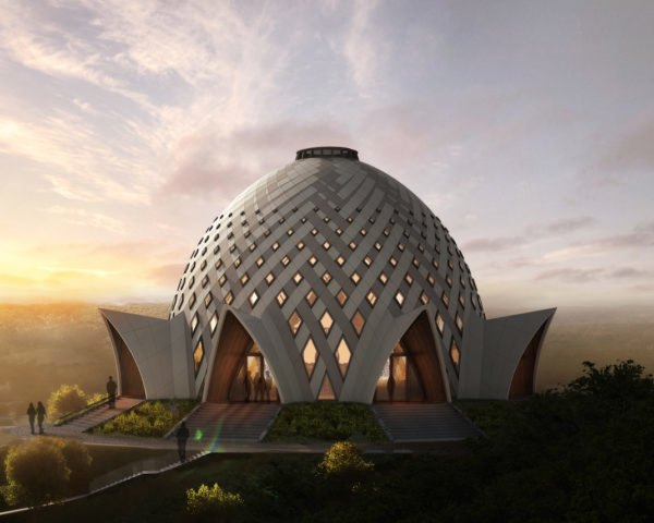 Bahá'í House of Worship in Papua New Guinea, Bahá'í House of Worship in Papua New Guinea by Henry Lape and Saeed Granfar, latticed dome, Bahá'í House of Worship architecture, Bahá'í architecture, Bahá'í Papua New Guinea, Bahá'í House of Worship in Port Moresby,
