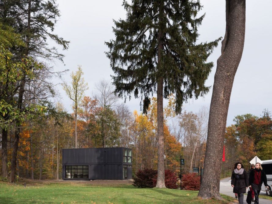 Bard College Media Lab by MB Architecture, Bard College Media Lab, Bard College Media Lab shipping containers, shipping container media lab, cargotecture on college campuses, cargotecture Bard College, cargotecture by MB Architecture,