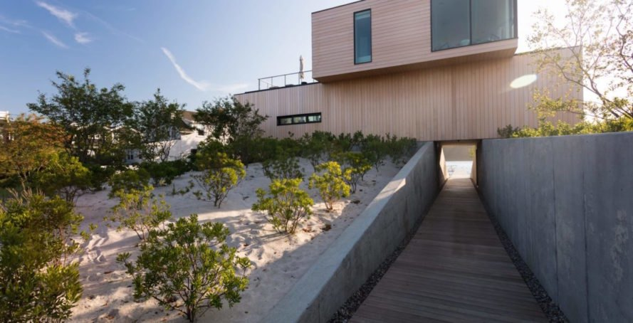 Beach House by Raad Studio, Beach House artificial dunes, artificial dunes residential project, artificial dunes stormwater protection, New Jersey artificial dunes, New Jersey Beach House by Raad Studio, Sea Bright modern architecture, Sea Bright stormwater defense