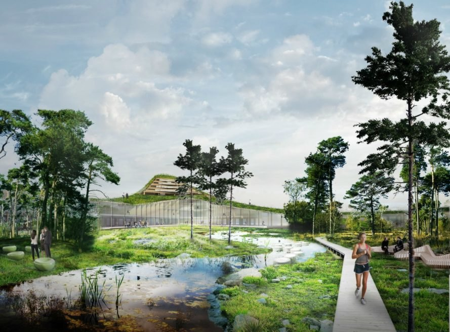 Studio Marco Vermeulen, Dutch Mountains project, De Run in Veldhoven, urban design, dutch mountains netherlands, largest wooden buildng in the world, where is the largest building in the world, co2 eating buildings, green urban design, sustainable urban design, wooden buildings, dutch design, high tech residential complex